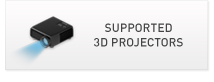 Supported 3D Projectors