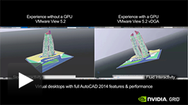 AutoCAD Video: CPU only vs. GRID K2 with VMware Horizon View 5.3