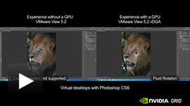 PhotoShop Video: CPU only vs. GRID K2 with VMware Horizon View 5.3