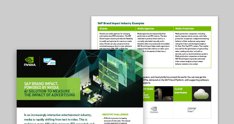 SAP-Accelerated Machine Learning Solutions | NVIDIA