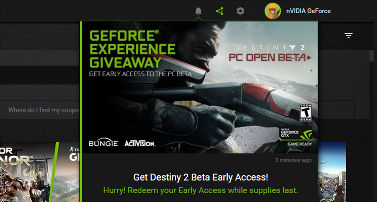 GeForce Experience Giveaways | NVIDIA GeForce