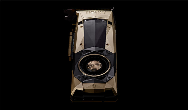 NVIDIA TITAN V sports a gold die-cast aluminum body.