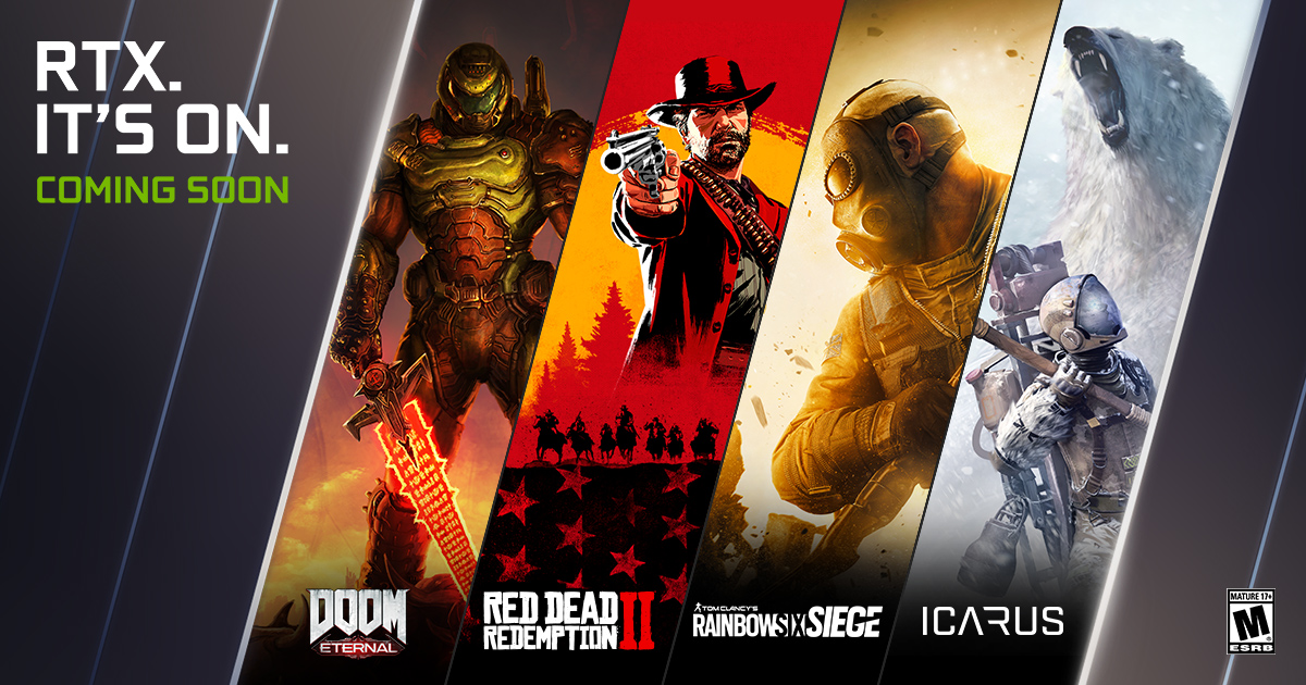 NVIDIA RTX Titles Jump To Over 130 - DOOM Eternal, Icarus, Red Dead  Redemption 2, Rainbow Six Siege, DYING: 1983, And More Coming Soon | GeForce  News | NVIDIA