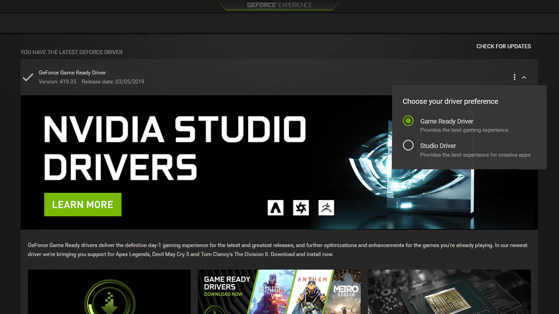 Available Now: NVIDIA Studio Drivers Supercharge Creative Apps