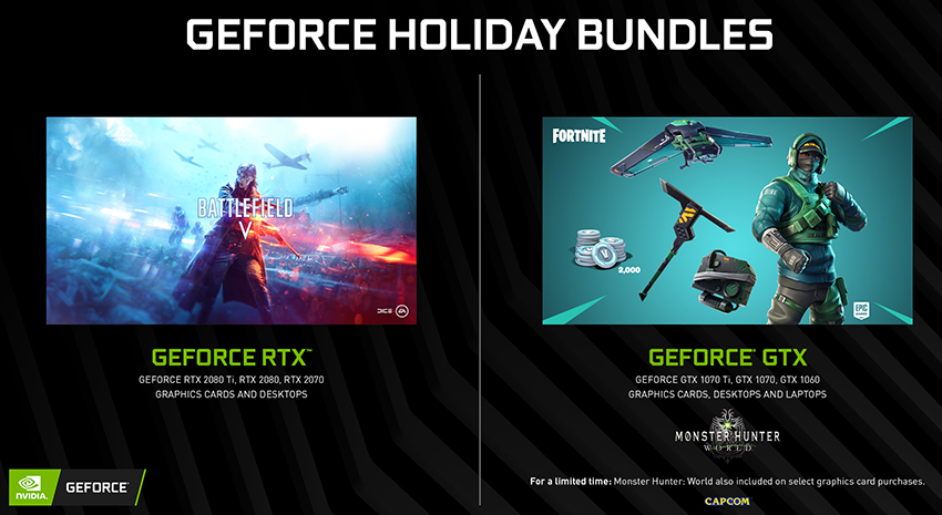 GeForce GTX Fortnite Bundle Begins, Monster Hunter: World Bundle
