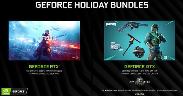 GeForce GTX Fortnite Bundle Begins, Monster Hunter: World Bundle Extended