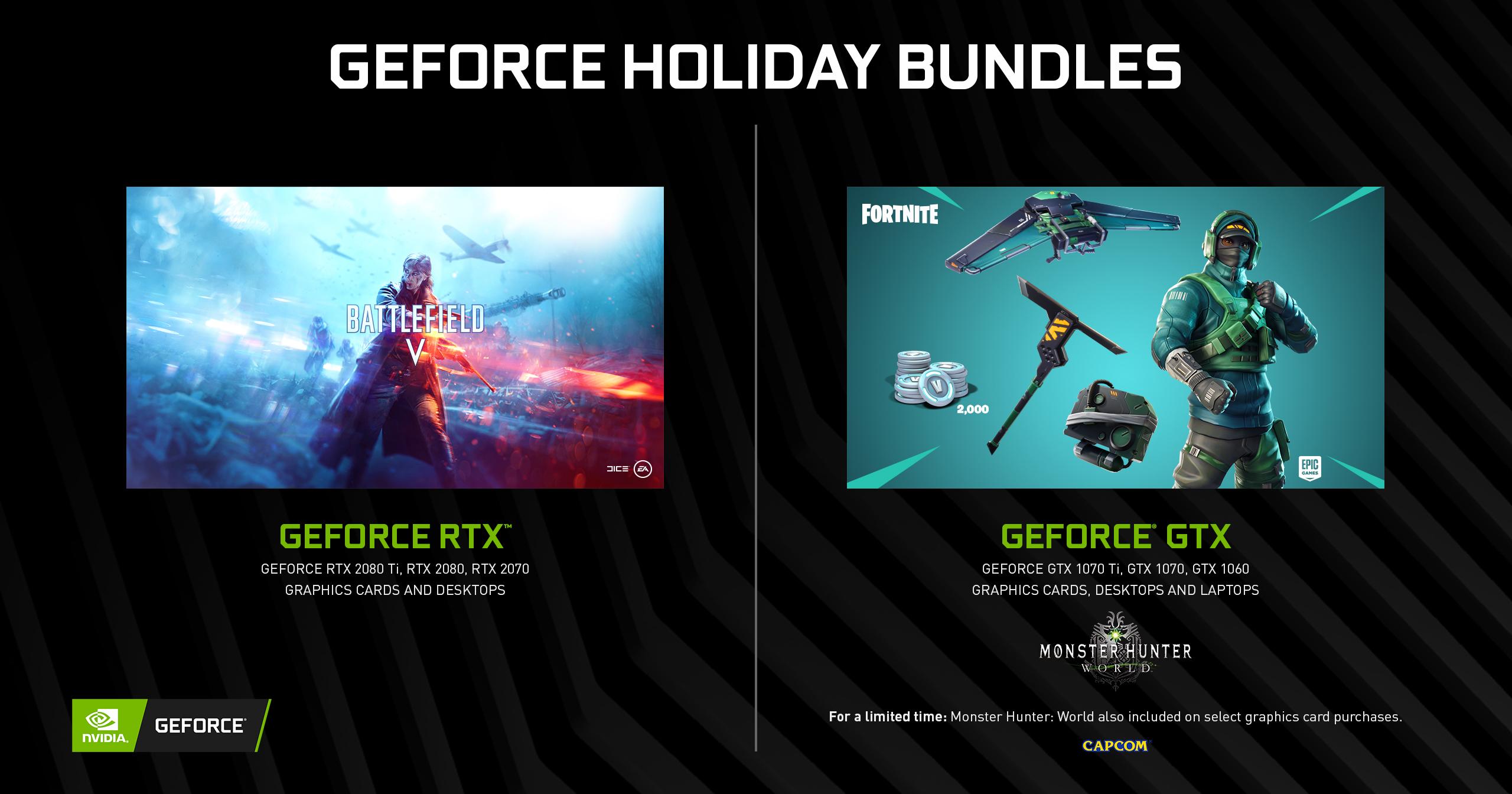 GeForce GTX Fortnite Bundle Begins, Monster Hunter: World