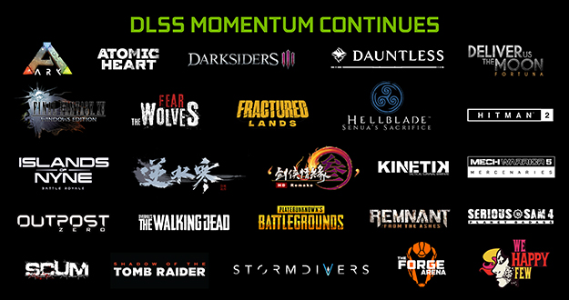 DLSS Momentum Continues With More Games Announcing Adoption