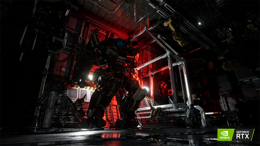 Mechwarrior 5 Mercenaries NVIDIA RTX Ray Tracing Screenshot