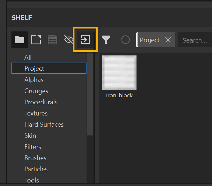Use this button to import textures at any time