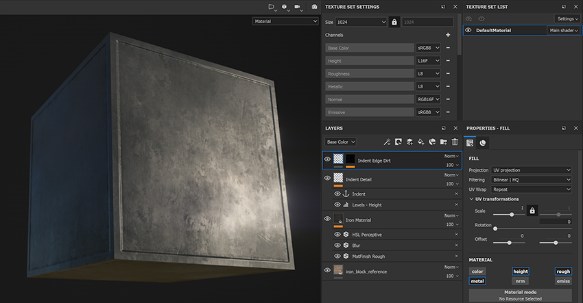 Add another fill layer to give your texture some extra detailps