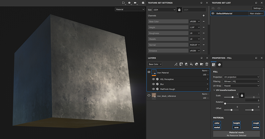 Create your PBR texture set