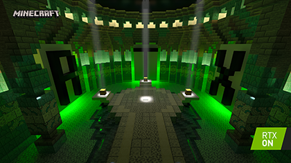 Minecraft with RTX Beta: Aquatic Adventure - Interactive Screenshot Comparison - RTX ON