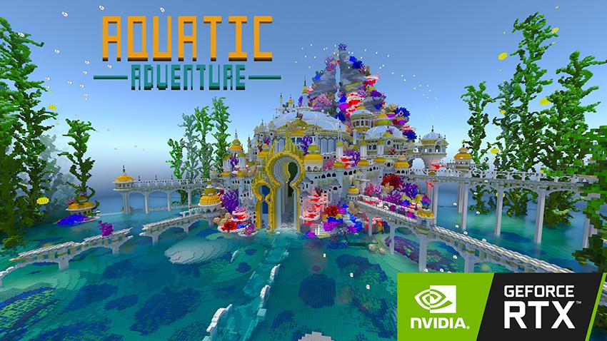 Minecraft with RTX Beta: Aquatic Adventure Creator World