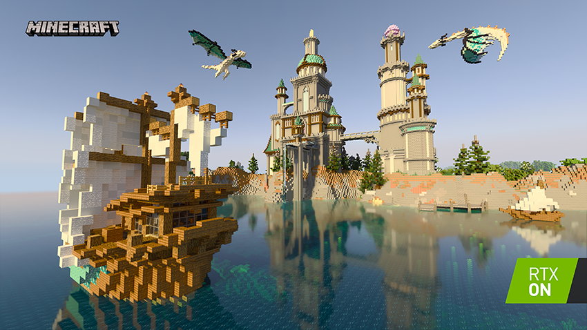 Minecraft with RTX Beta: Crystal Palace Screenshot