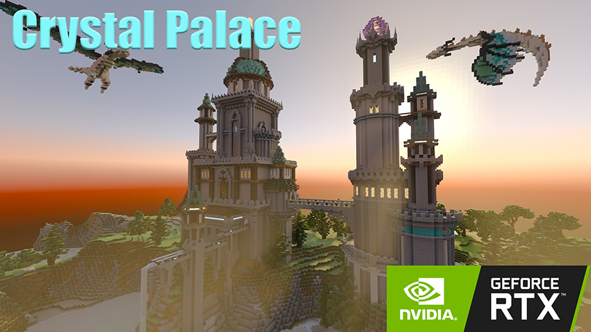 Minecraft with RTX Beta: Crystal Palace Creator World