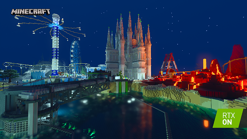Minecraft with RTX Beta: Imagination Island - Interactive Screenshot Comparison - RTX ON