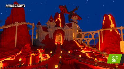 Minecraft with RTX Beta: Imagination Island Screenshot