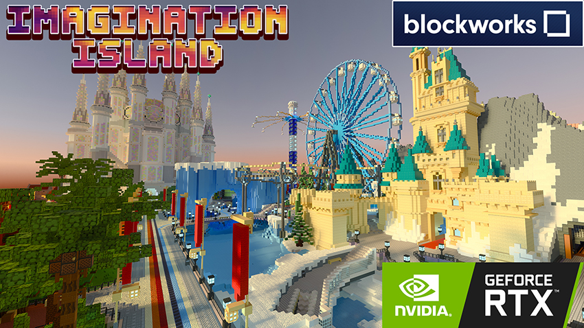Minecraft with RTX Beta: Imagination Island Creator World