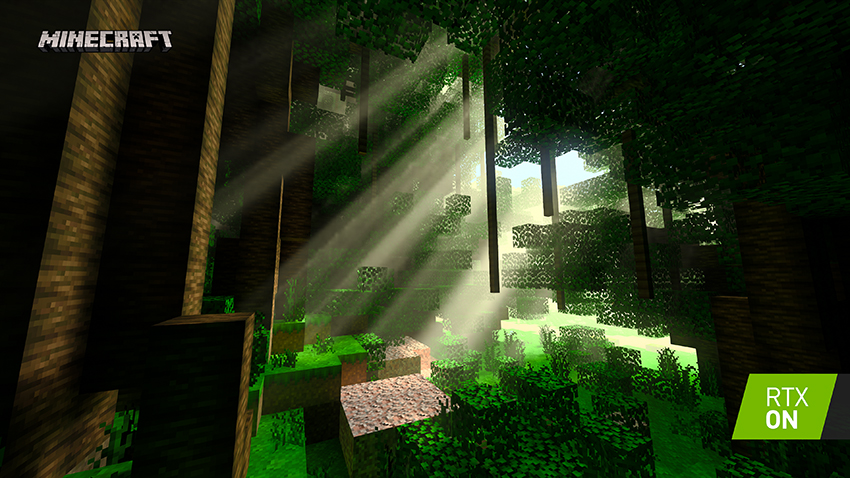 Minecraft with RTX Beta: Of Temples and Totems - Ray-Traced Shadows Screenshot - RTX ON
