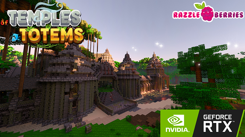 Minecraft with RTX Beta: Of Temples and Totems Creator World