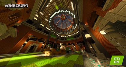 Minecraft with RTX Beta: Razzleberries RTX Texture Showcase Interactive Screenshot Comparison - RTX ON