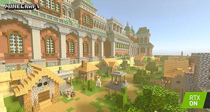 Minecraft with RTX Beta: Razzleberries RTX Texture Showcase Screenshot