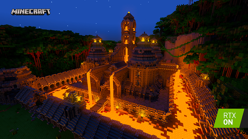 Minecraft with RTX: First Look at New Ray Traced Worlds