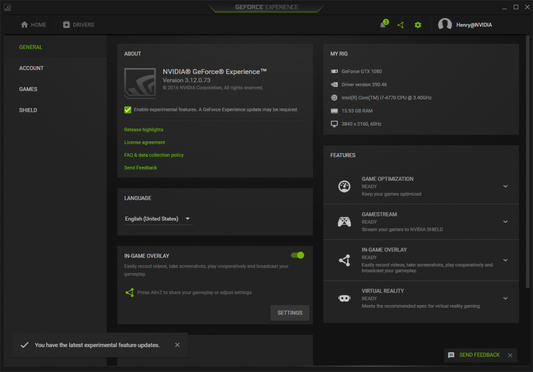cant download nvidia experience