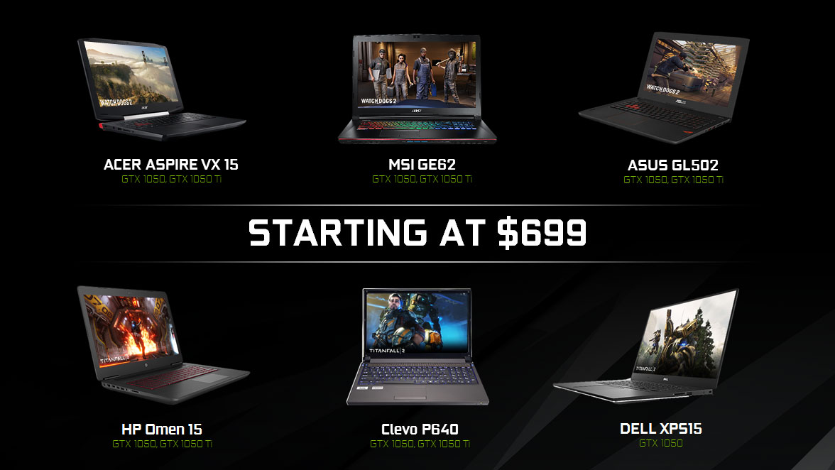 GeForce GTX 1050 and 1050 Ti Comes to Laptops