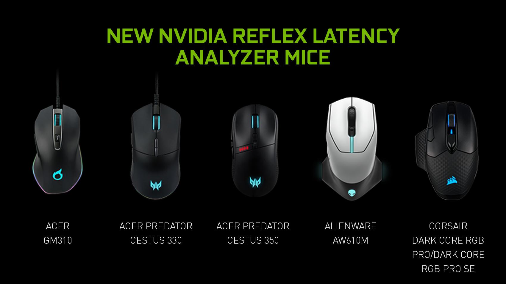 nvidia geforce game on 2021 new reflex latency analyzer mice