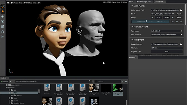 High-Quality Automatic Facial Animation with Audio2Face