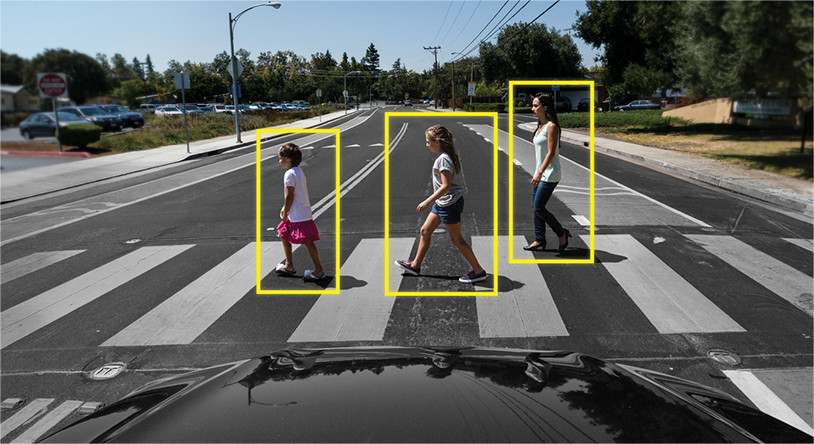 Image result for driverless cars detecting pedestrians