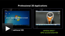 Click to play - Fully interactive 3D applications
