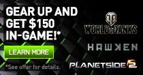 GEAR UP AND GET $150 IN-GAME.