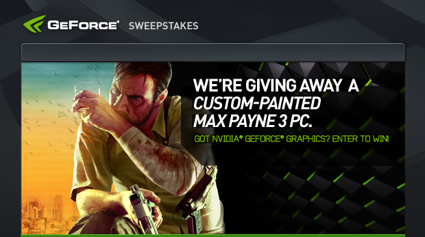 WE'RE GIVING AWAY A CUSTOM-PAINTED MAX PAYNE 3 PC.