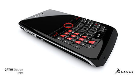 Cellphone design rendered with CATIA