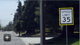 Speed limit sign recognition