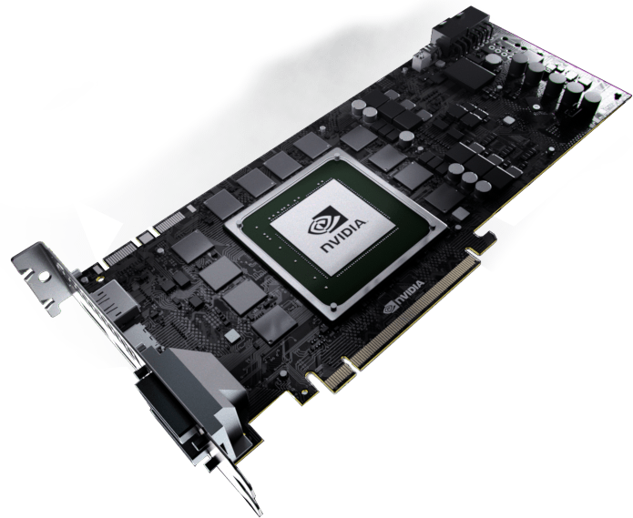 Internal view of the GeForce GTX TITAN GPU, power supply, and memory.