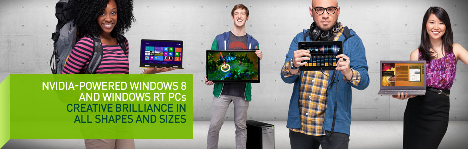 NVIDIA-Powered Windows 8 and Windows RT PCs