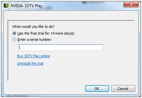 NVIDIA 3DTV Play Free 180 Day TrialNVIDIA