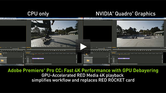 Adobe Premiere Pro CC - Faster Video Editing|NVIDIA