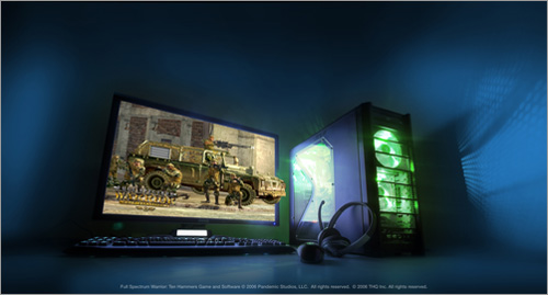 NVIDIA SLI graphics technology combined with the new Intel Core 2 Duo processor.