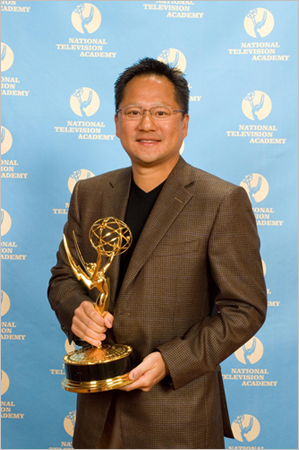 Jen-Hsun Huang, CEO of NVIDIA Corporation Accepts Emmy Award For Pioneering Work in Near and Real-Time Fully Programmable Shading Via Modern Graphics Processors