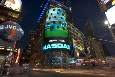 NASDAQ MarketSite Tower and Video Wall