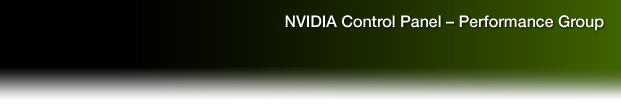 NVIDIA Control Panel - Performance Group