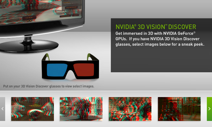 Nvidia 3d vision discover will be available at the following locations