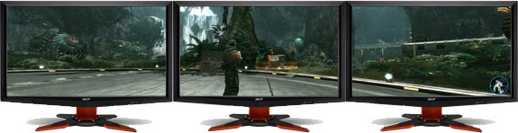 Will NVIDIA SLI™ technology support surround gaming?