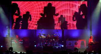 Rush on stage for the Vapor Trails tour.